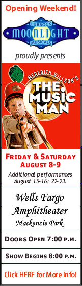 The Music Man - Lubbock Moonlight Musicals - Aug 8-9, 15-16, 22-23